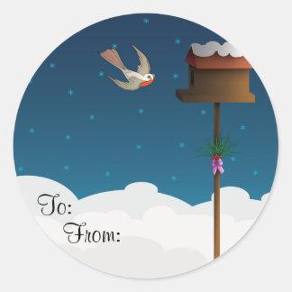 Robin, gift tag classic round sticker