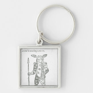 Robin Goodfellow Silver-Colored Square Keychain