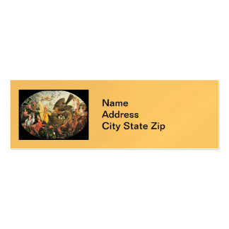 Robin Guarding Eggs from Faeries Double-Sided Mini Business Cards (Pack Of 20)