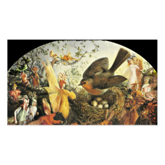Robin Guarding Eggs from Faeries Double-Sided Standard Business Cards (Pack Of 100)