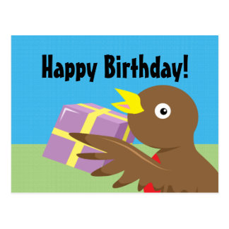 Robin Happy Birthday Postcard