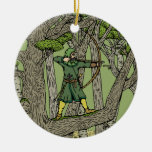 Robin Hood Adorno Navideño Redondo De Cerámica
