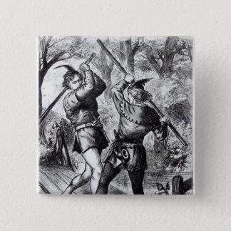 Robin Hood and Little John Button