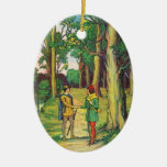 Robin Hood And Little John Christmas Ornaments