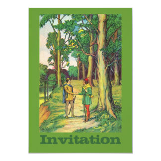 Robin Hood And Little John 5x7 Paper Invitation Card