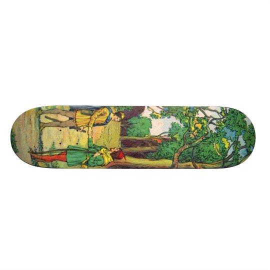 Robin Hood And Little John Skateboard Deck