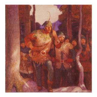 Robin Hood and the Men of Greenwood  by NC Wyeth Poster