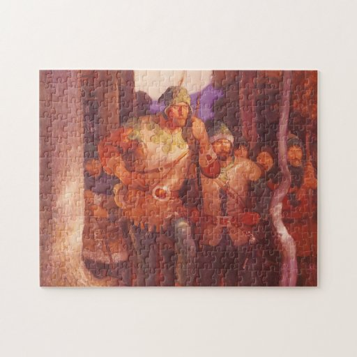 Robin Hood and the Men of Greenwood  by NC Wyeth Jigsaw Puzzle