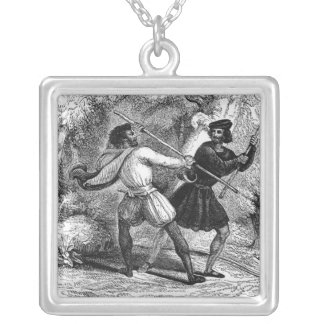 Robin Hood and the Tanner with Quarter-staffs Pendant