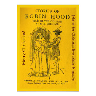 Robin Hood As Told Invitation