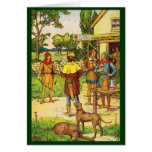 Robin Hood At The Tavern Card