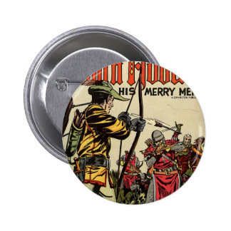 Robin Hood Comic Book Button