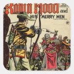 Robin Hood Comic Book Square Sticker
