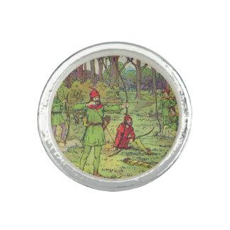 Robin Hood en el bosque Anillo Con Foto