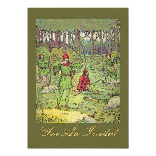 Robin Hood en el bosque Invitaciones Personalizada