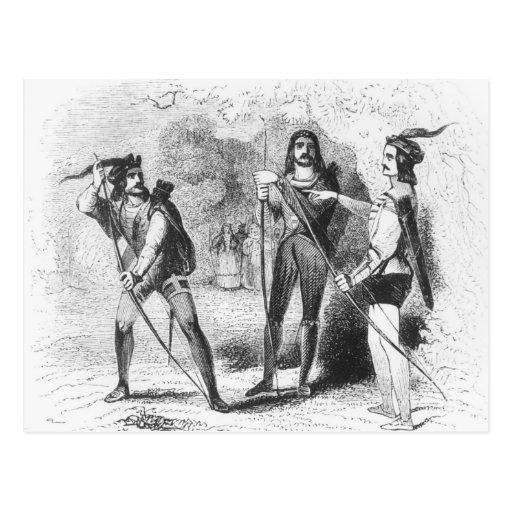 Robin Hood, escarlata y Juan Postales