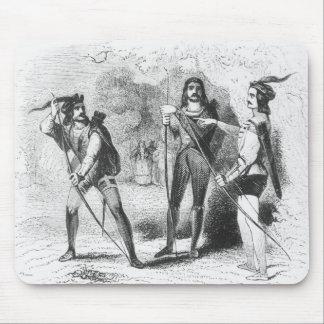 Robin Hood, escarlata y Juan Tapetes De Ratón