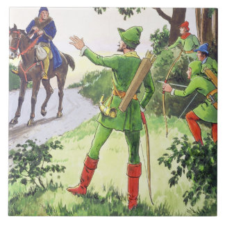 Robin Hood, from 'Peeps into the Past', published Ceramic Tile