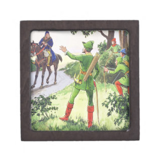 Robin Hood, from 'Peeps into the Past', published Premium Trinket Boxes