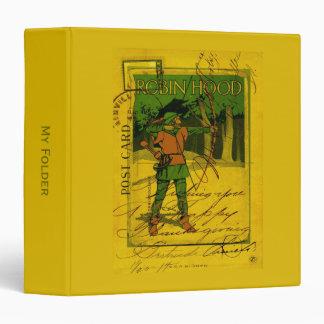 Robin Hood, His Bow and Arrow 3 Ring Binders