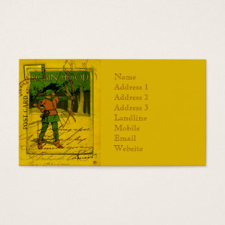 Robin Hood, His Bow and Arrow Business Card