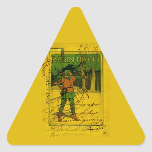 Robin Hood, His Bow and Arrow Sticker