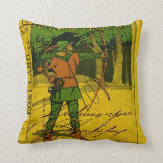 Robin Hood, His Bow and Arrow Throw Pillow