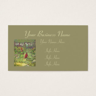 Robin Hood In The Forest Business Card