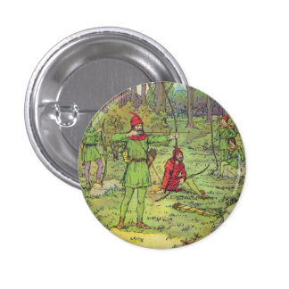 Robin Hood In The Forest Button