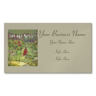 Robin Hood In The Forest Magnetic Business Card
