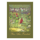 Robin Hood In The Forest Personalized Invites