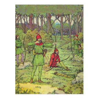 Robin Hood In The Forest Post Card