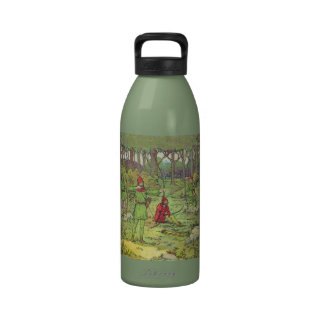 Robin Hood In The Forest Drinking Bottles