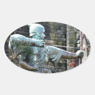 Robin Hood Oval Sticker