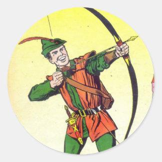 Robin Hood Pegatina Redonda