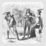 Robin Hood, Scarlet and John Square Sticker