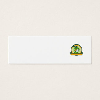 Robin Hood Side Ribbon Circle Retro Mini Business Card