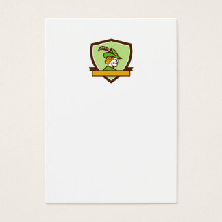 Robin Hood Side Ribbon Crest Retro Business Card