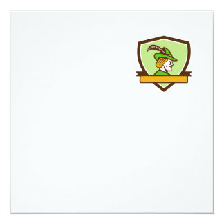 Robin Hood Side Ribbon Crest Retro Card