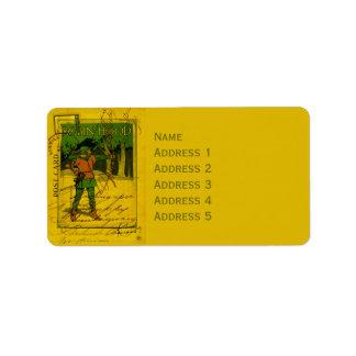 Robin Hood, su arco y flecha Etiqueta De Dirección