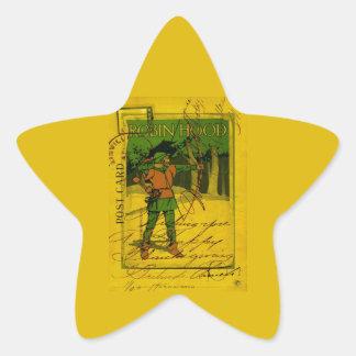 Robin Hood, su arco y flecha Pegatina En Forma De Estrella