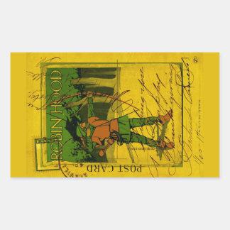 Robin Hood, su arco y flecha Pegatina Rectangular