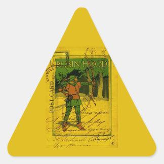 Robin Hood, su arco y flecha Pegatina Triangular
