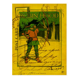 Robin Hood, su arco y flecha Postal