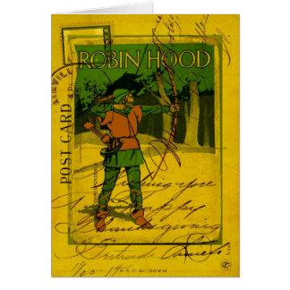 Robin Hood, su arco y flecha Tarjeta De Felicitación