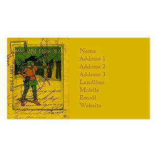 Robin Hood, su arco y flecha Tarjetas De Visita