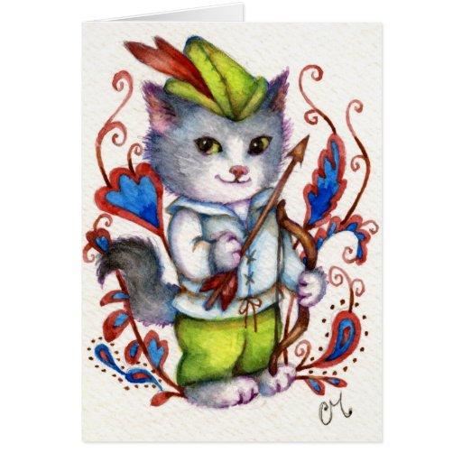 Robin Hood - tarjeta de felicitación linda del