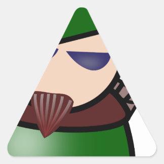 Robin-Hood Triangle Sticker