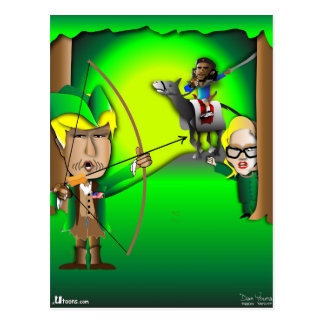 Robin Hood Trump Postcard