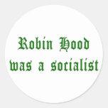 Robin Hood Was A Socialist Classic Round Sticker